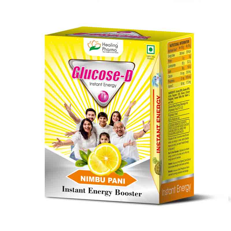 Glucose-D Vitamin D Energy Drink Online - Glucose-D Lemon - Energy Boost Drink in India