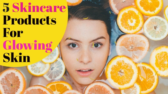 skincare products for healthy shining and glowing skin